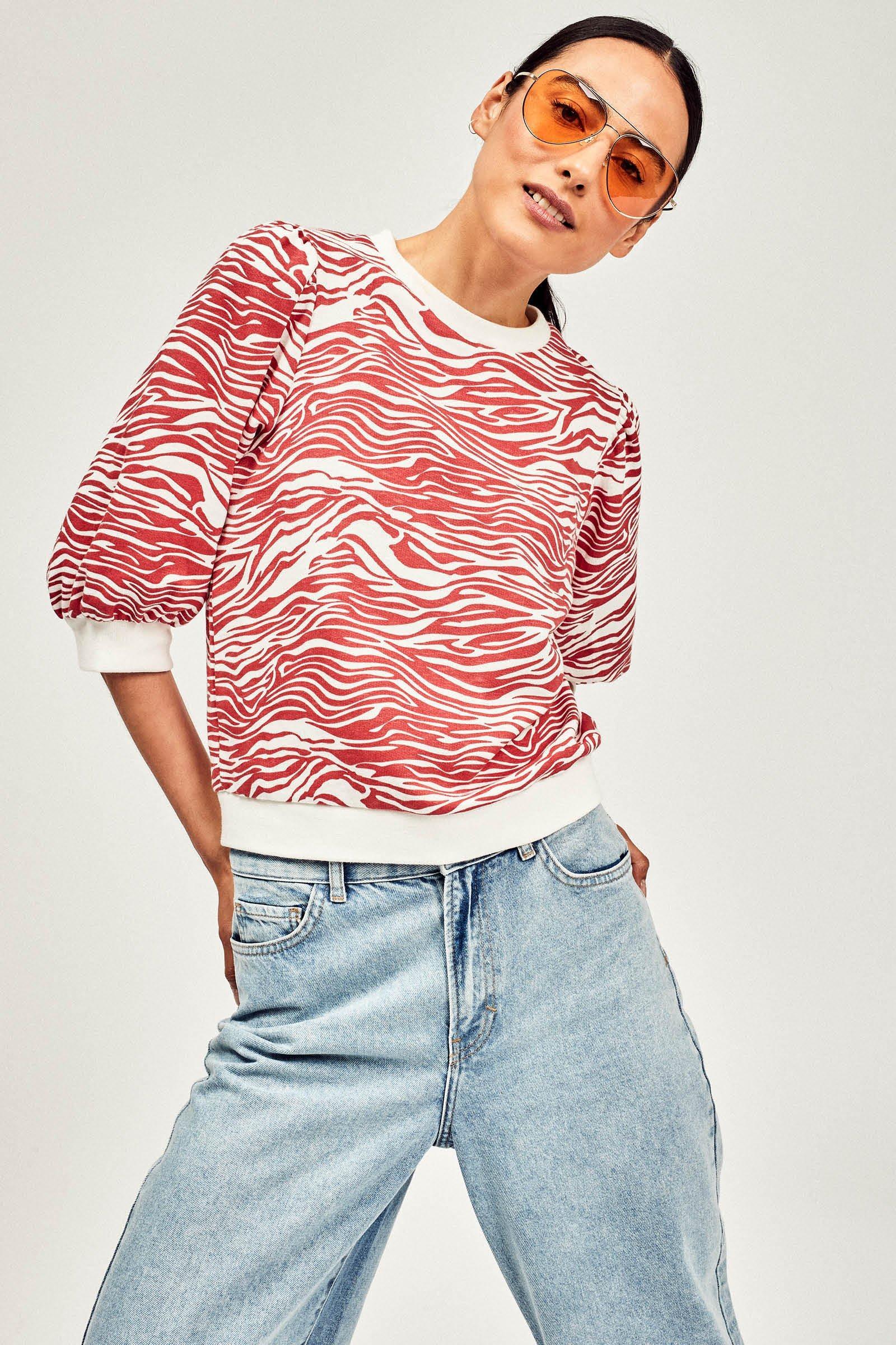 CKS Dames - NAMIBIE - sweater - donkerrood