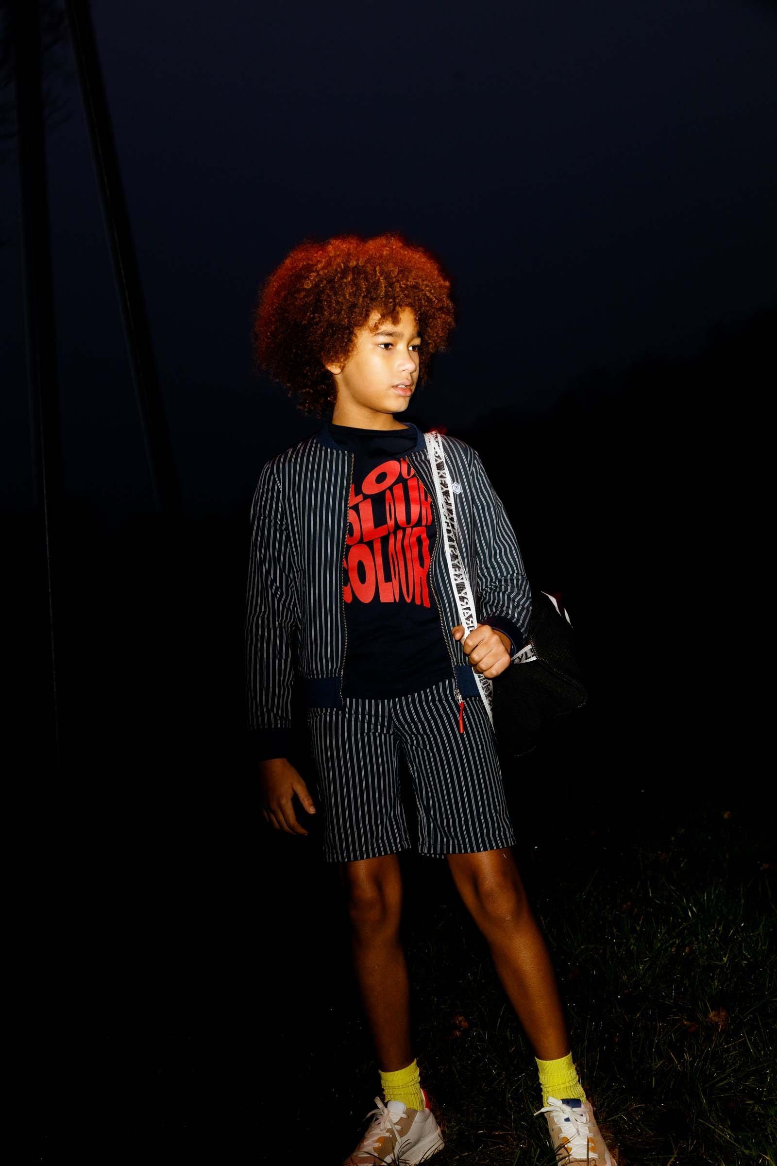CKS Kids - YELTE - t-shirt korte mouwen - blauw
