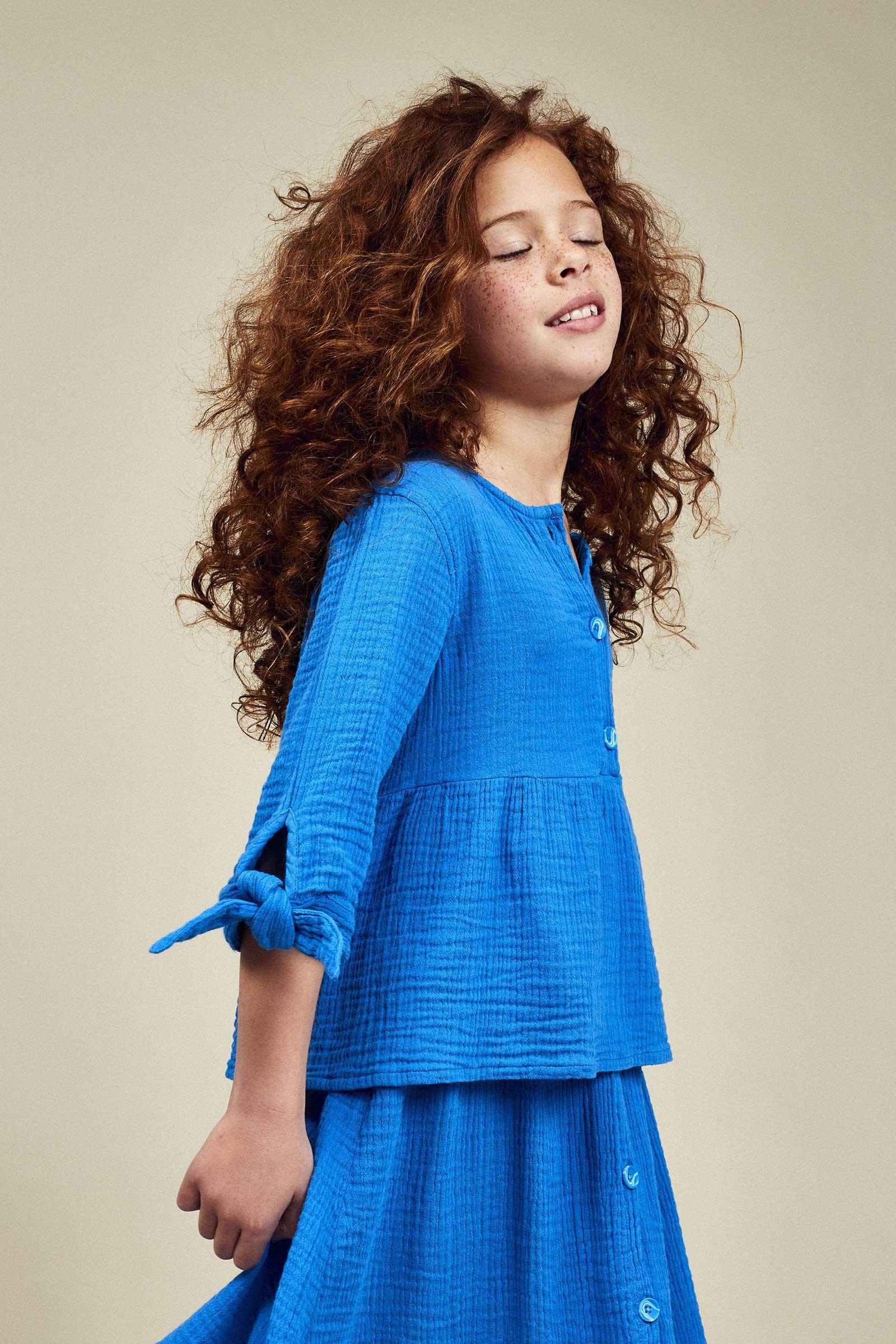 CKS Kids - WALLIS - blouse lange mouwen - blauw