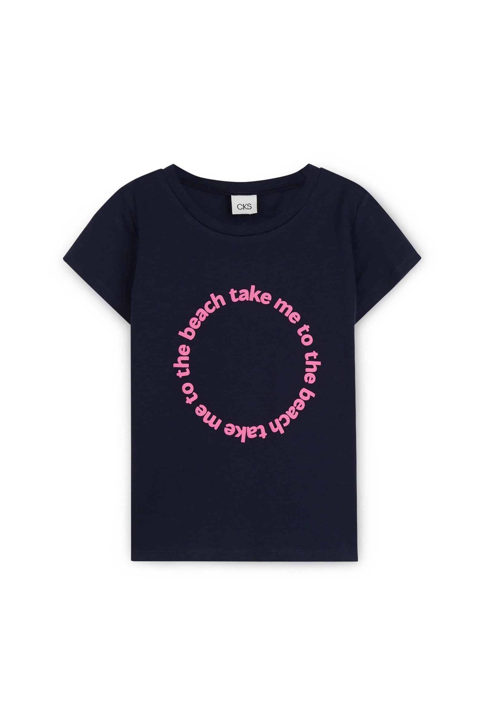 CKS Kids - WINK - t-shirt korte mouwen - donkerblauw