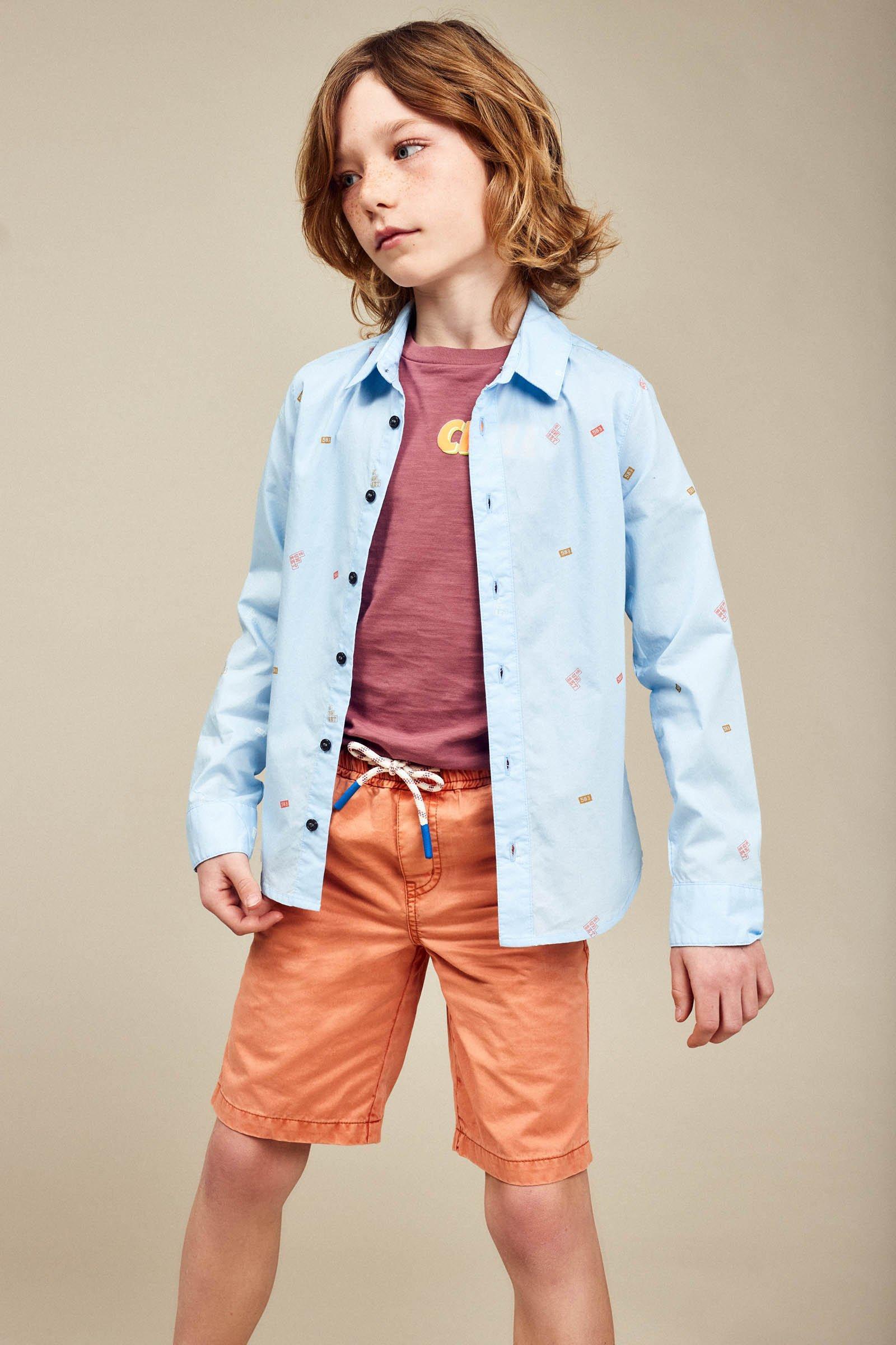 CKS Kids - BOTAN - shirt lange mouwen - blauw