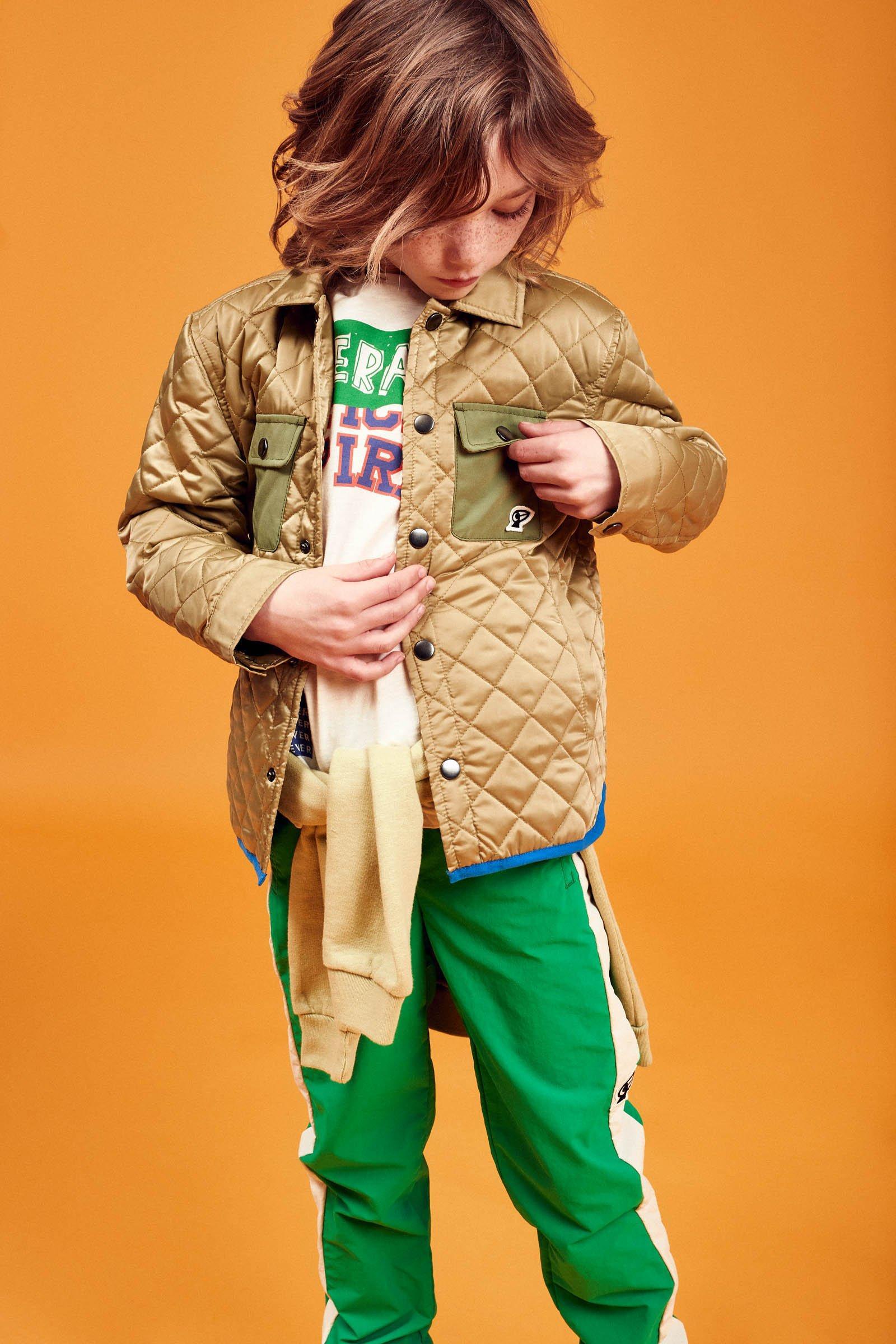 CKS Kids - OSSIE - korte jas - khaki