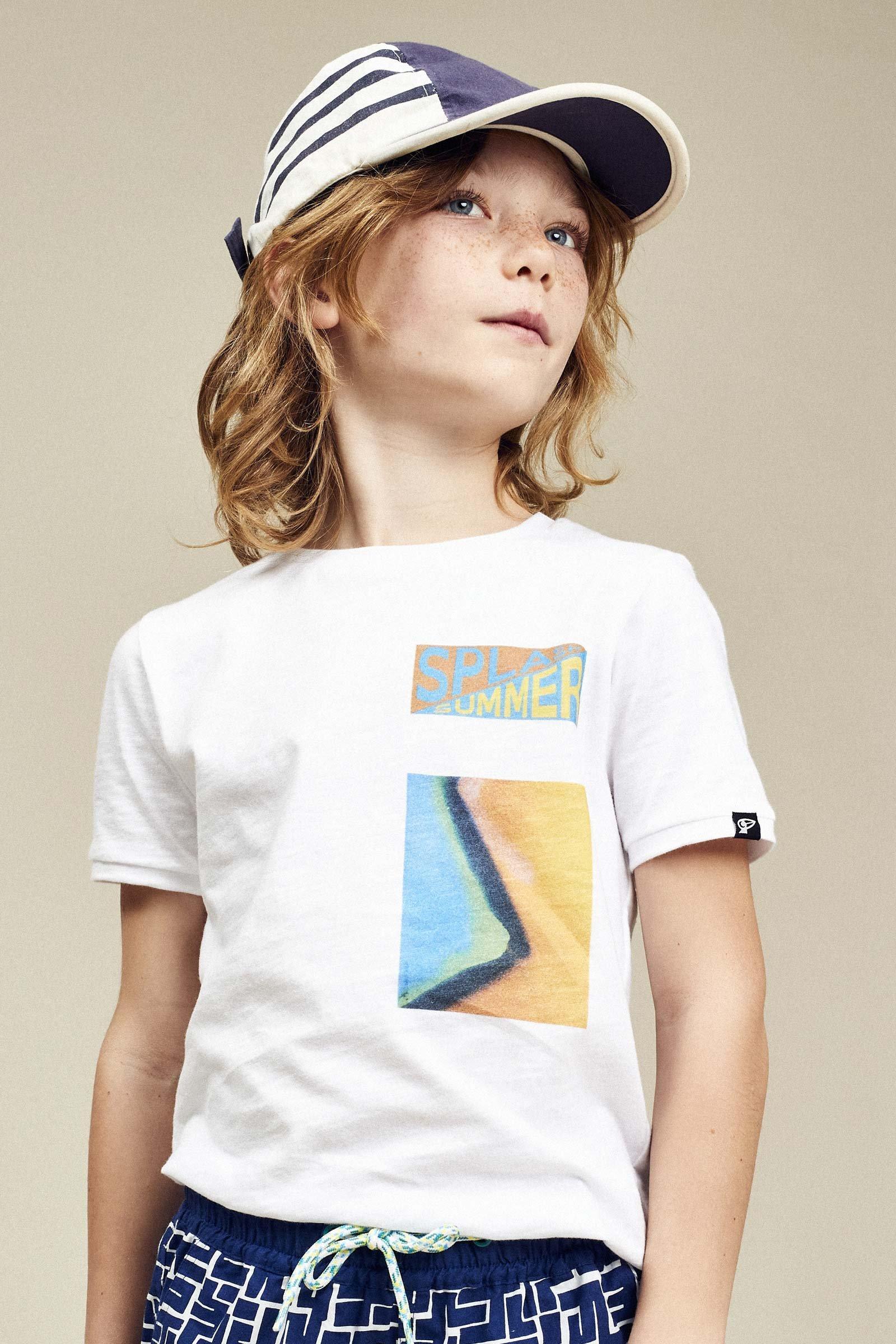 CKS Kids - YORIS - t-shirt korte mouwen - wit