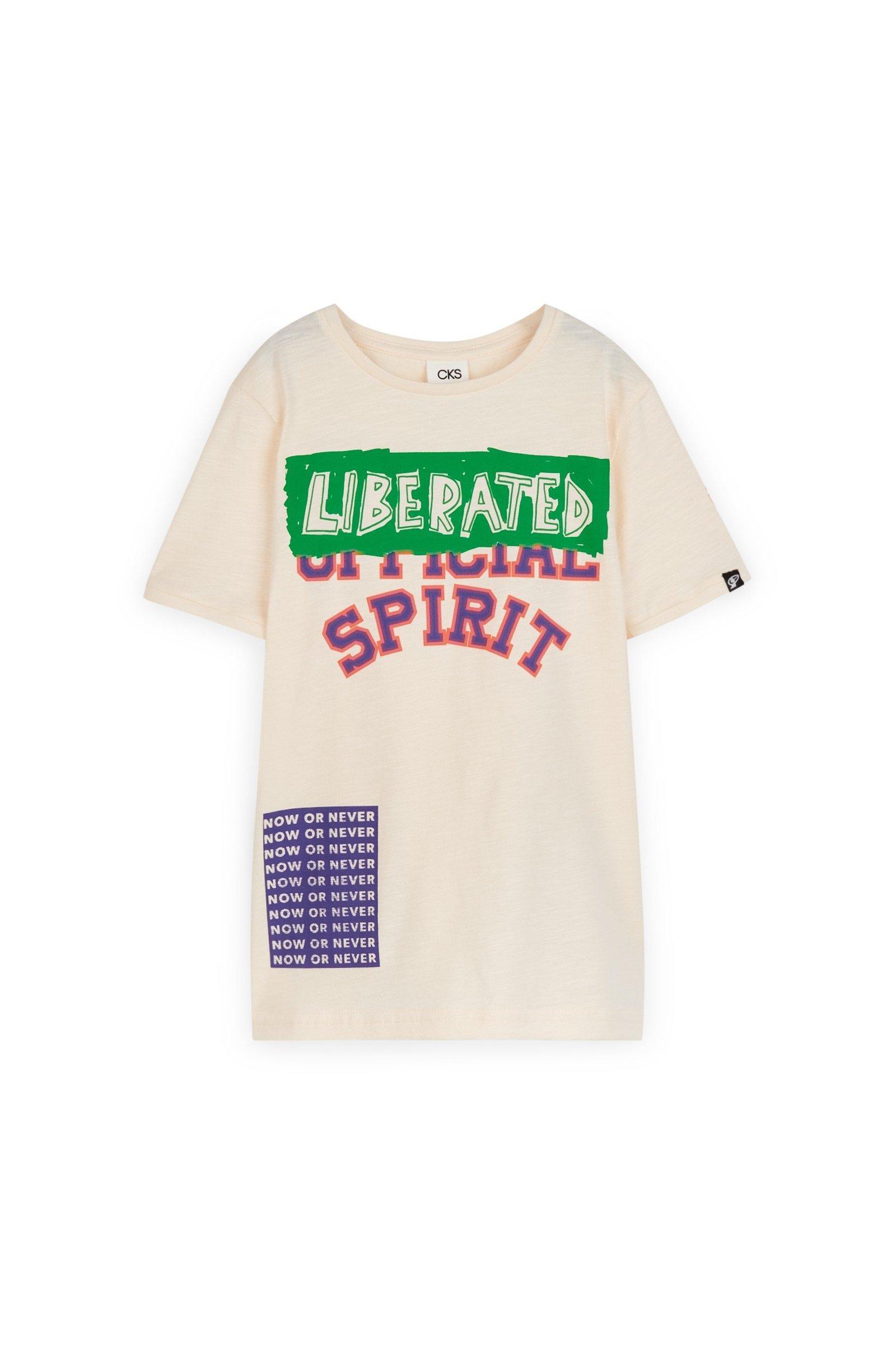 CKS Kids - YEDGAR - t-shirt korte mouwen - wit