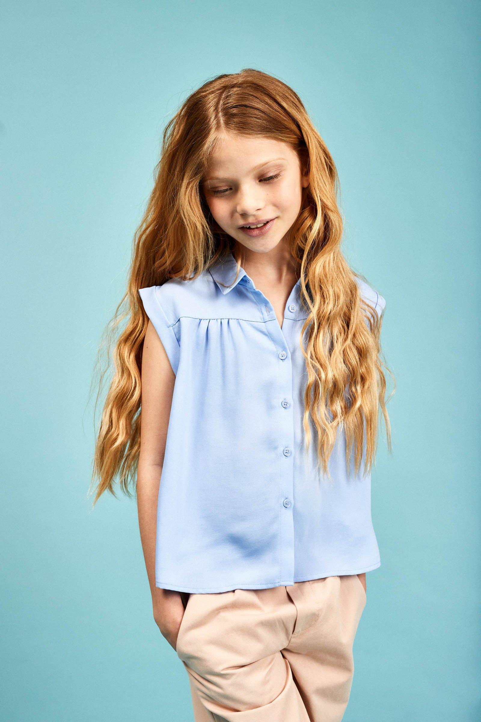 CKS Kids - ECHO - blouse lange mouwen - blauw
