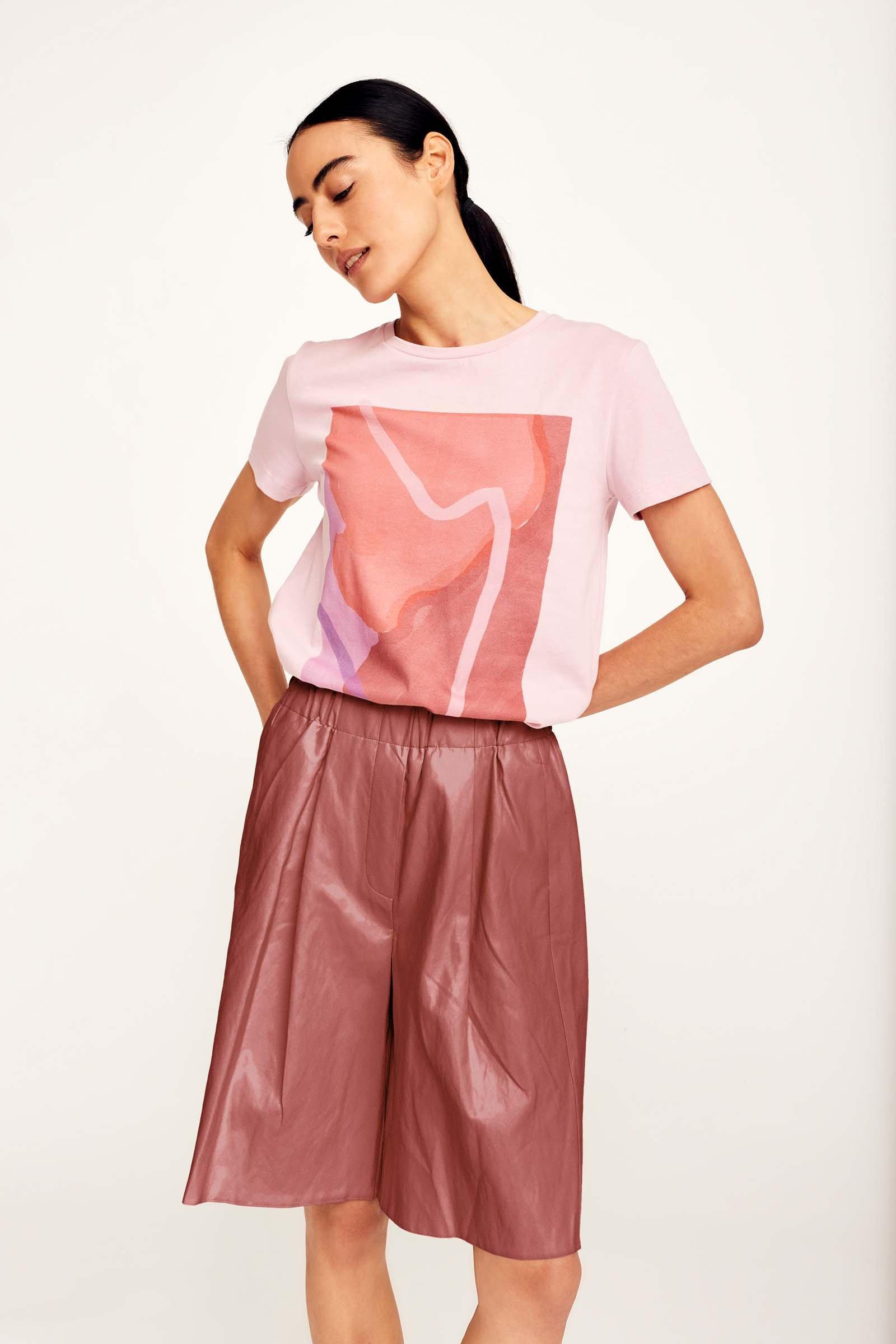 CKS Dames - LOUISE - t-shirt korte mouwen - roze