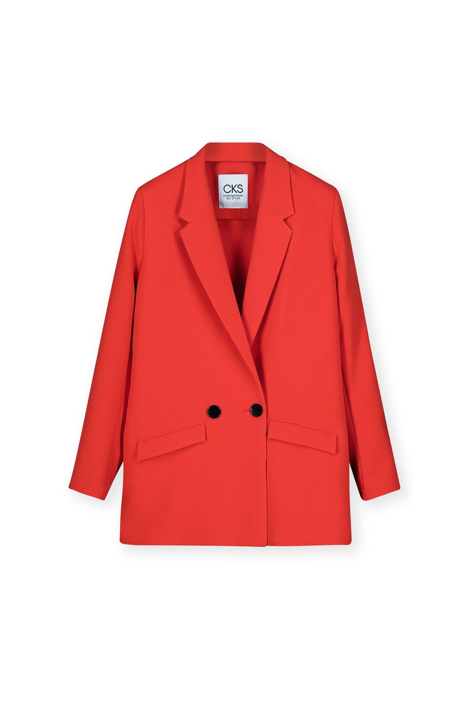 CKS Dames - LAGARUSA - lange blazer - rood