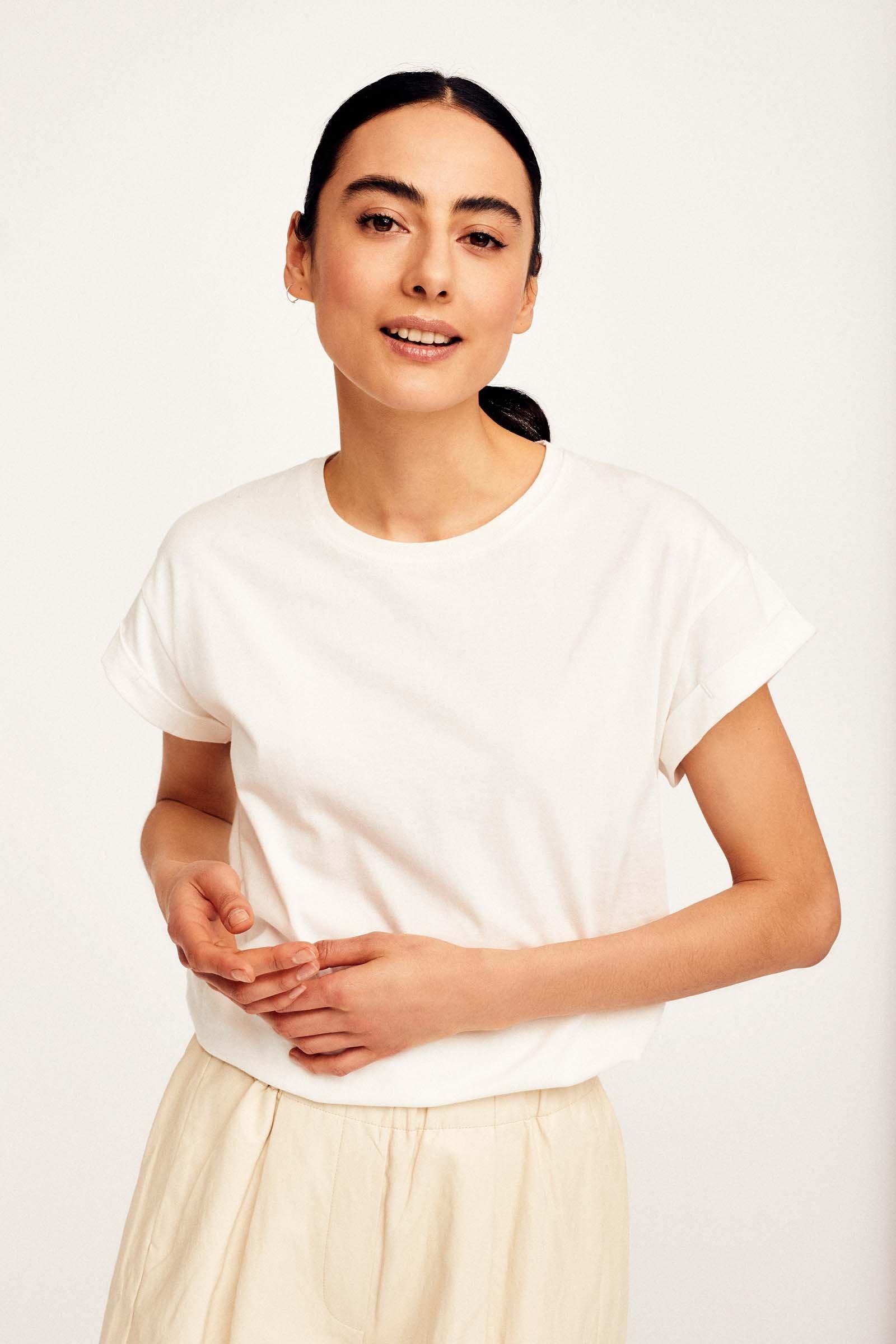 CKS Dames - JUNA - t-shirt korte mouwen - lichtbruin